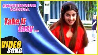 Take It Easy Video Song   Endrendrum Kadhal Tamil Movie Songs   Vijay   Rambha   Music Master