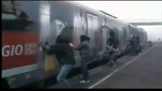 Как рисуют граффити на поездах в Германии!(, 2012-03-26T13:20:18.000Z)