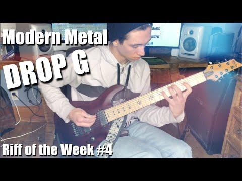 Drop G Heavy Modern Metal Riff of the Week  ROTW 4