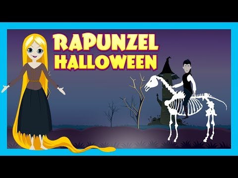 HALLOWEEN STORIES - RAPUNZEL || Rapunzel In Halloween Celebr