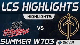 100 vs GG Highlights LCS Summer 2020 W7D3 100 Thieves vs Golden Guardians by Onivia
