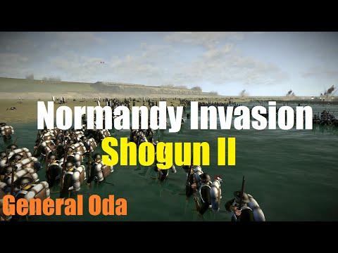 Shogun 2 Massive Battle - Normandy Beach Invasion (3,183 vs 12,000) HD |