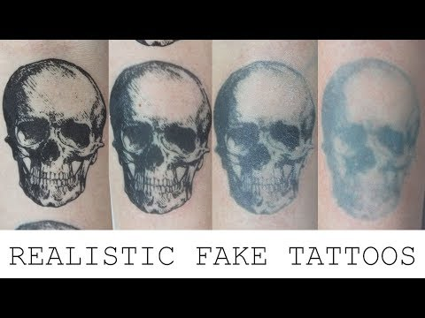 How to Make a Realistic Fake Tattoo | Fresh & Aged