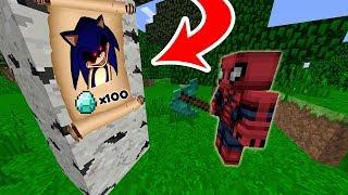 ÖRÜMCEK ADAM KORKUNÇ SONİC'İ ARIYOR 😱 100 ELMAS KAZANACAK - Minecraft