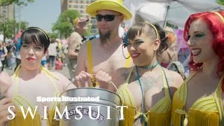 Model on the Street with Nina Agdal - The Mermaid Parade | Sports Illustrated Swimsuit xxx