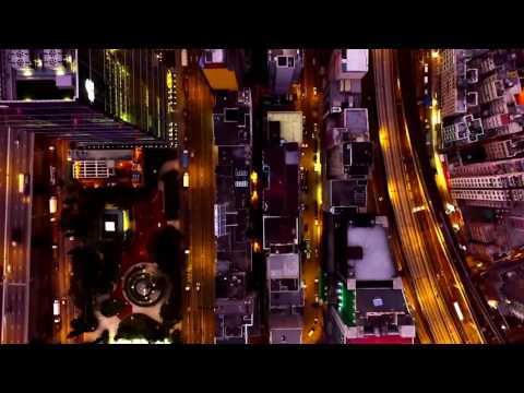 Drone CityScape Night lights Ariel view city Buildings   57 Free Stock Video Download