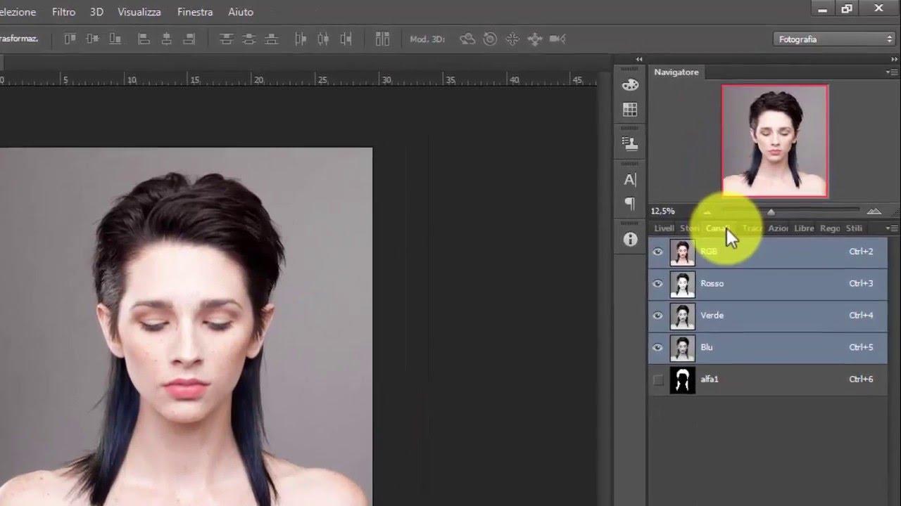 Cambiare colore ai capelli (Tutorial Photoshop ) - YouTube 41a581adcddb