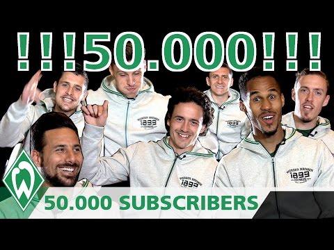 50.000 Subscribers – wir sagen DANKE!!! | SV Werder Bremen