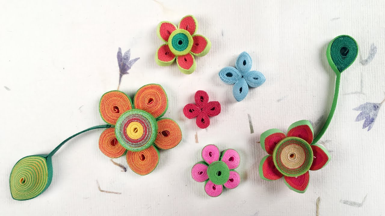 How to make simple paper quilling flowers paper quilling for how to make simple paper quilling flowers paper quilling for beginners dhlflorist Gallery