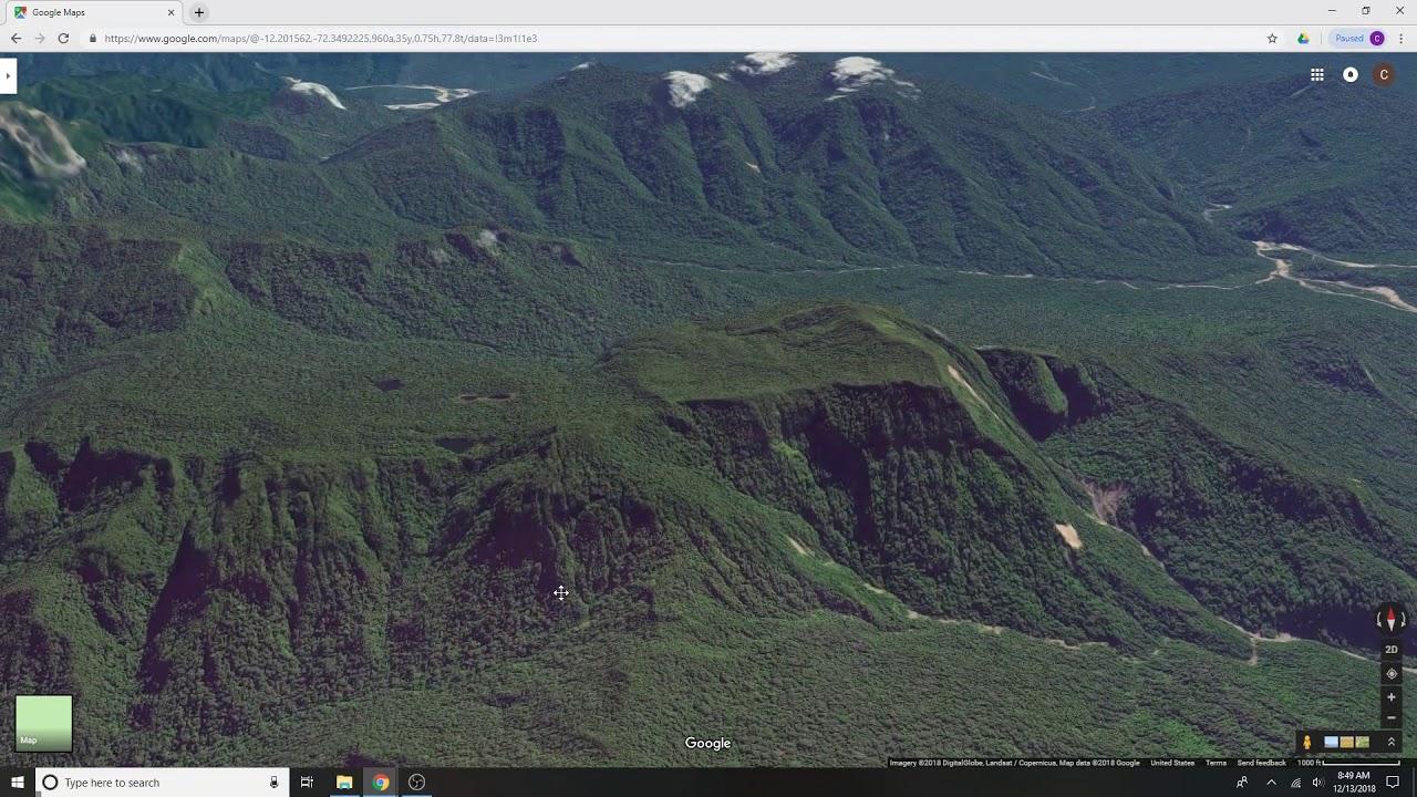 Paititi Square Mountain Google Maps 3D - YouTube
