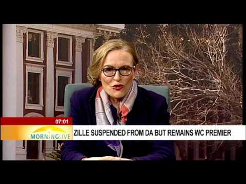 Zille suspended from DA but remains WC premier