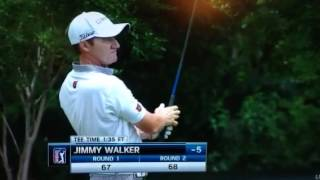 FedEx Cup golfer Jimmy Walker spits a giant loogie!!
