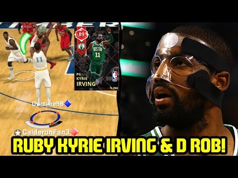MASKED RUBY KYRIE IRVING & RUBY D ROB! NBA 2K18 MYTEAM SUPERMAX GAMEPLAY