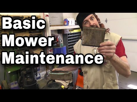 How To Do Basic Lawn Mower and Lawn Tractor Maintenance - With Taryl