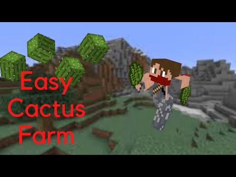 how-to-make-an-easy---cactus---green-dye-farm---minecraft-1.15+-tutorial