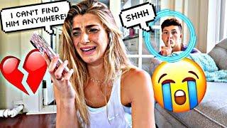 MISSING BOYFRIEND PRANK ON GIRLFRIEND!! *SHE CRIED*