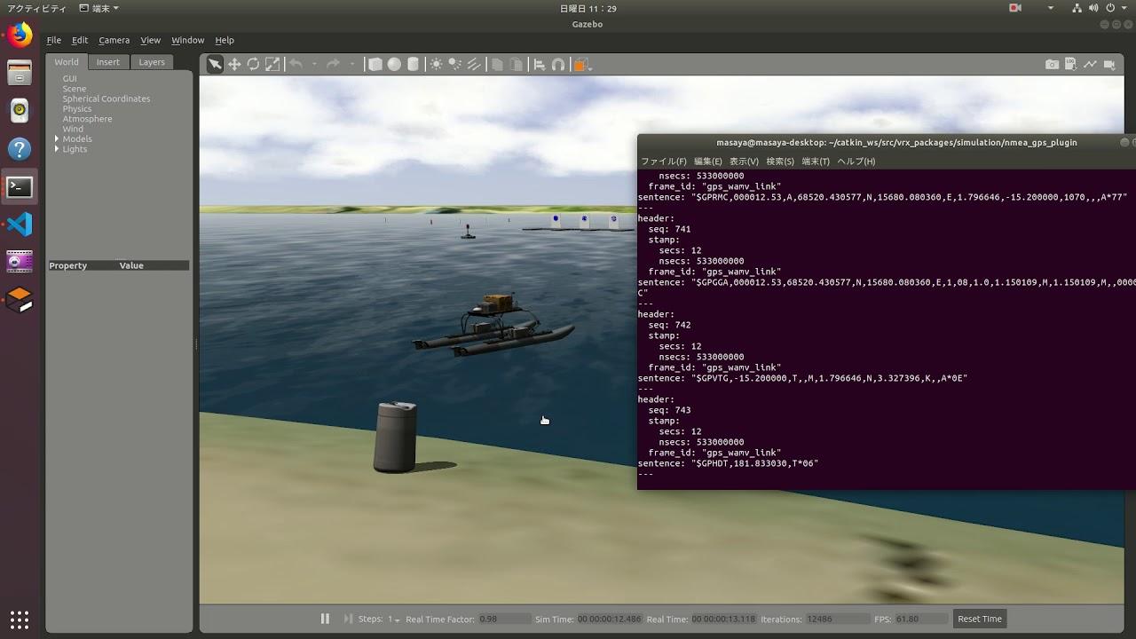 NMEA GPS Simulation with Gazebo