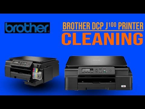 How to clean a Brother  DCP j-100 inkjet printer´s print head?