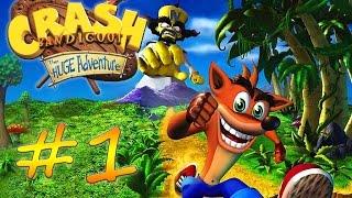 Прохождение Crash Bandicoot: The Huge Adventure (GBA) #1 - Warp Room 1 - кристаллы