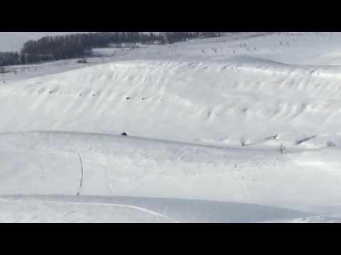 YAMAHA RX-1 MTX и отрицательный козырёк снега при подъеме.