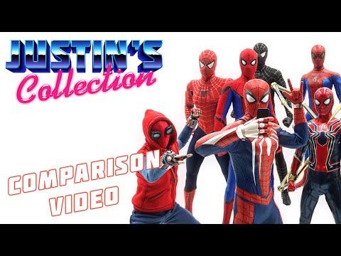 Hot Toys PS4 Spider-Man Advanced Suit Comparison Video