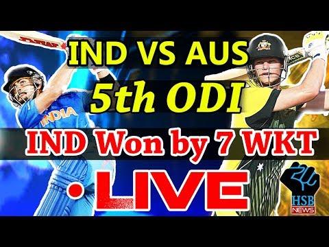 Live  Match India vs Australia 5th ODI, Live Online Streaming, Live cricket Score AUS-210/6