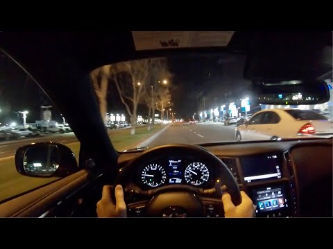 2020 Infiniti Q60 Red Sport 400 AWD POV Night Drive (3D Audio)