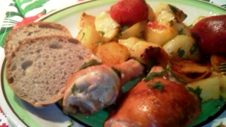 Картошка с окорочками в духовке Курица с картошкой