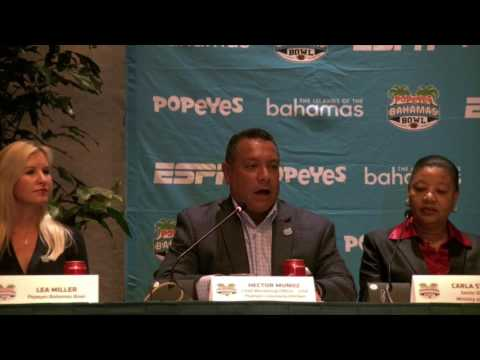 Popeyes Bahamas Bowl 2016 - Coaches Introduction at Press Conference