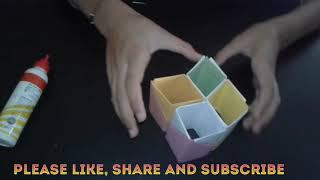 How to make paper pen holder .