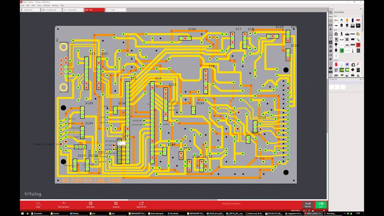 Pt 1/2. Design, CAM and CNC routing Megasquirt v2.2 PCB from ...