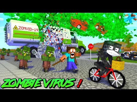 Monster School : ZOMBIE VIRUS WITHER CHEATER PRISON ESCAPE APOCALYPSE - Minecraft Animation