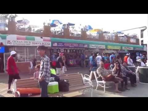 Ocean City Maryland Boardwalk Tram Ride - July 2015