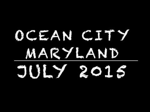 Ocean City Maryland Boardwalk Tram Ride - July 2015
