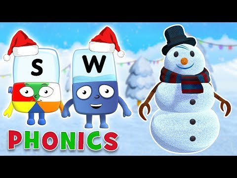 Alphablocks - Musical Christmas Special | Learn to Spell 'Snowman' | Phonics for Kids