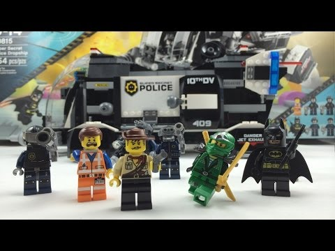 The LEGO Movie Super Secret Police Dropship Review 70815