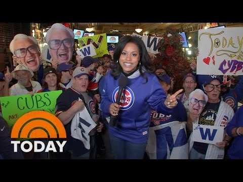 Chicago Cubs Head To First World Series Since 1945 And The Fans Go Wild | TODAY