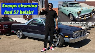 Snoop Doggs Elcamino and 1957 belair (watch in HD/4K)