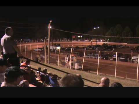 Winder-Barrow Speedway- Mini sprint heat #1- 6-20-09