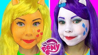 My Little Pony Kids Makeup Collection Alisa Pretend Play with Equestria Girl Doll & Draw Toys Colors