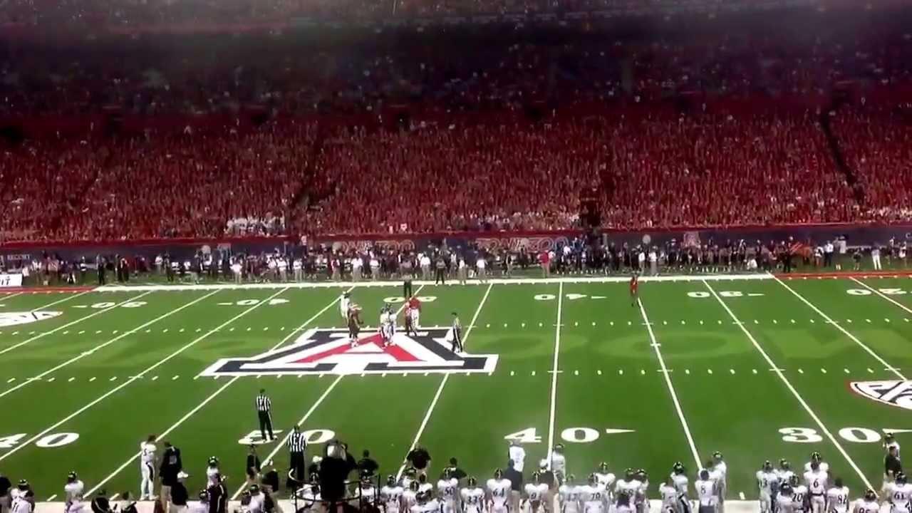 University of Arizona Wildcats Football U of A chant - YouTube