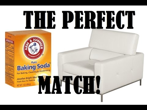 Can You Clean White Leather Sofas Long Sectional Sofa Canada How To With Baking Soda Youtube
