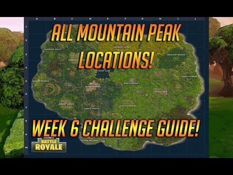 Summit Different Mountains Peaks In Fortnite Battle Royale! Mountain Peak Challenge Guide!