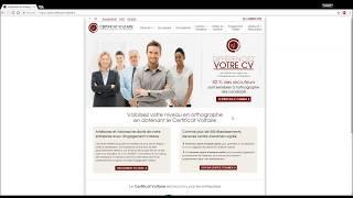 Le test d'orthographe - Certificat Voltaire