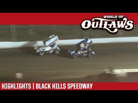World of Outlaws Craftsman Sprint Cars Black Hills Speedway August 24, 2018 | HIGHLIGHTS