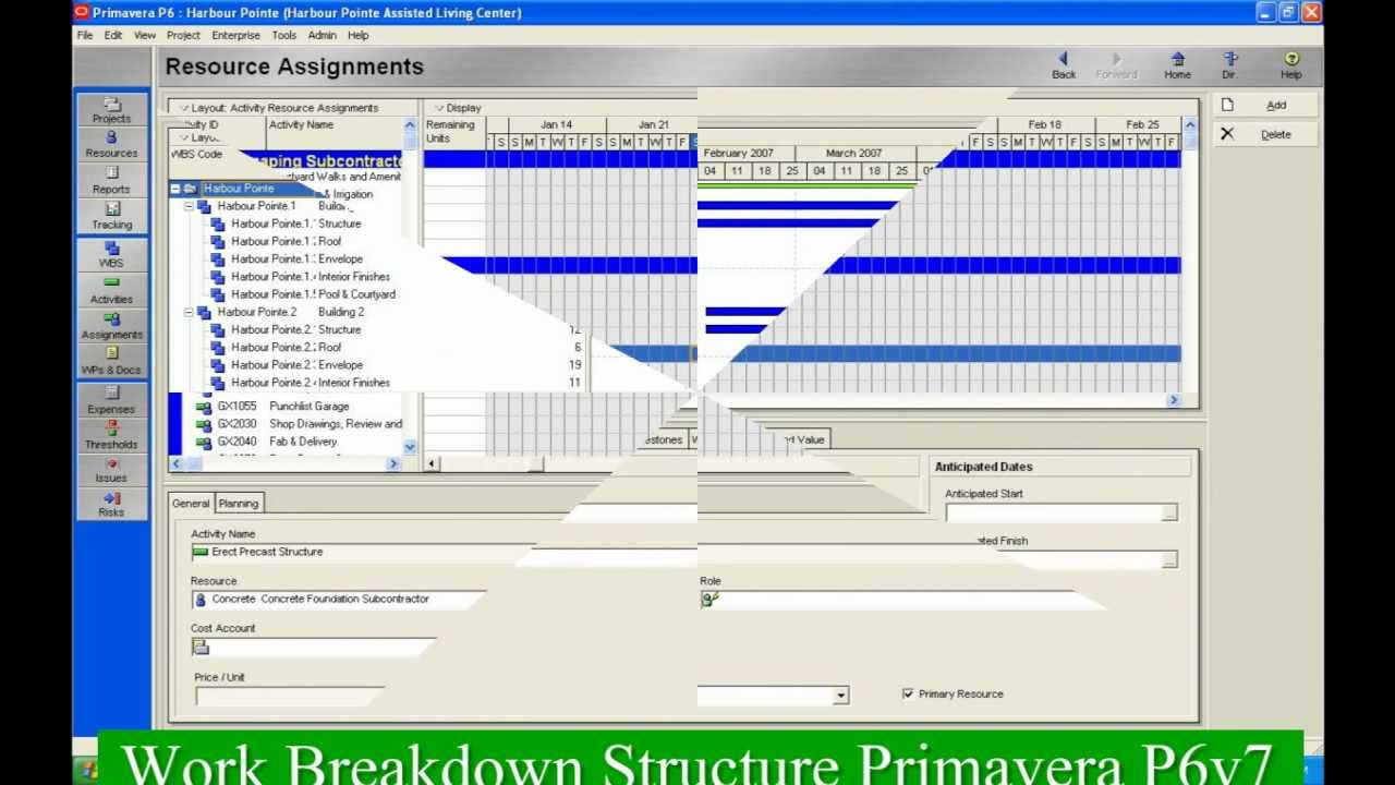 Primavera p6 tutorial work breakdown structurewbs youtube baditri Image collections