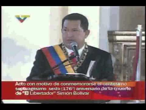 Discurso de Hugo Chávez en el Panteón Nacional, 17 de diciembre de 2006