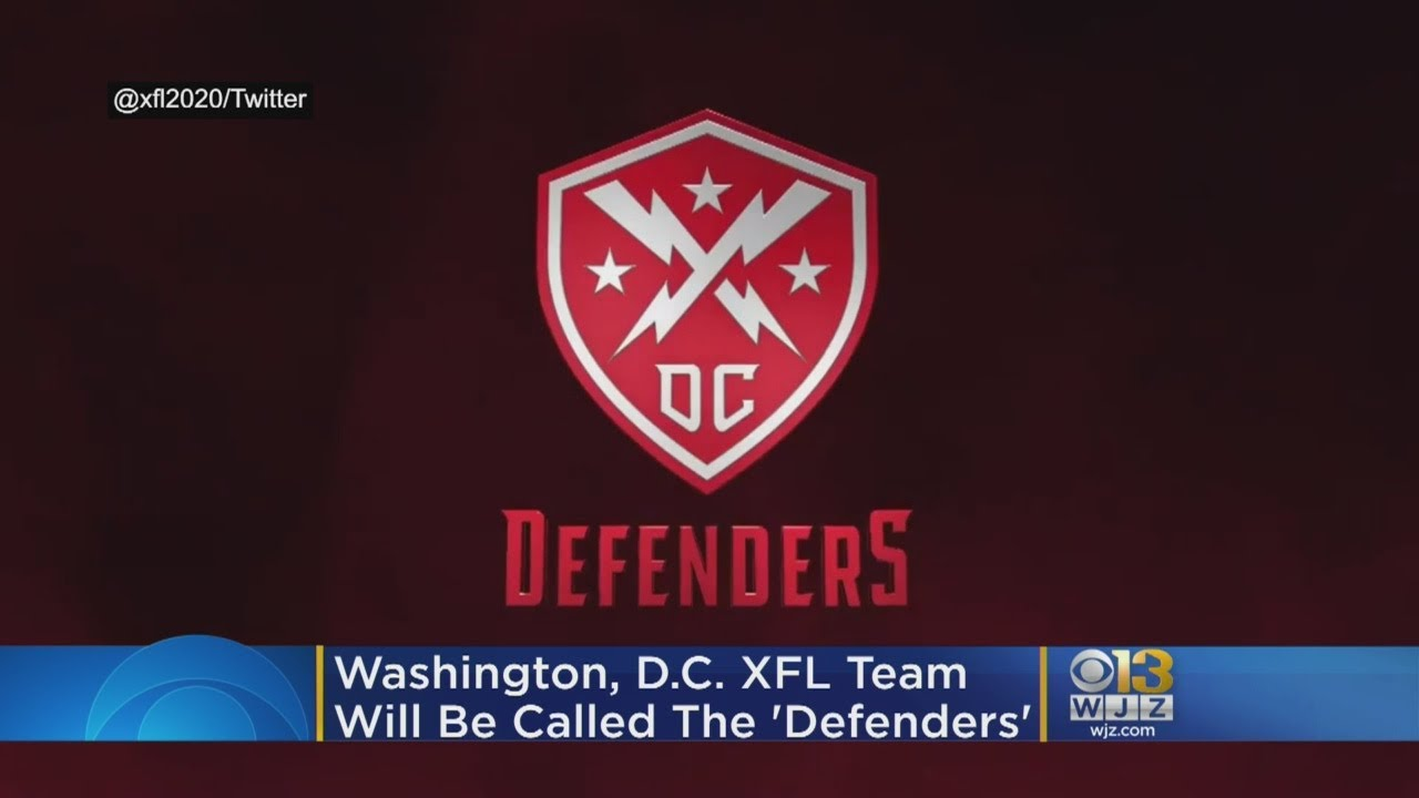 The DC XFL team has a nickname: Defenders