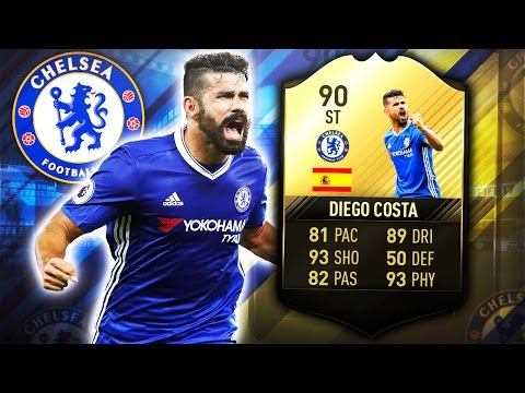 TIF DIEGO COSTA 90!! BETTER THAN LUKAKU?? FIFA 17 ULTIMATE TEAM