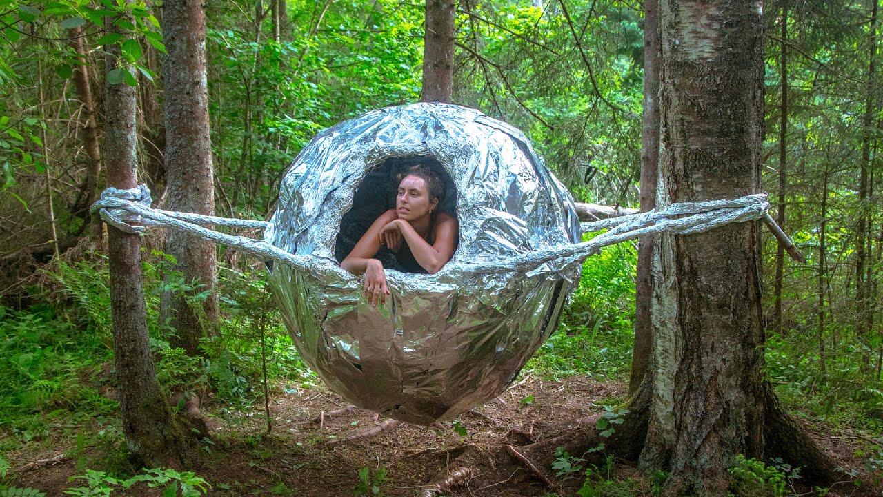 Insane Aluminum Foil Ball House!